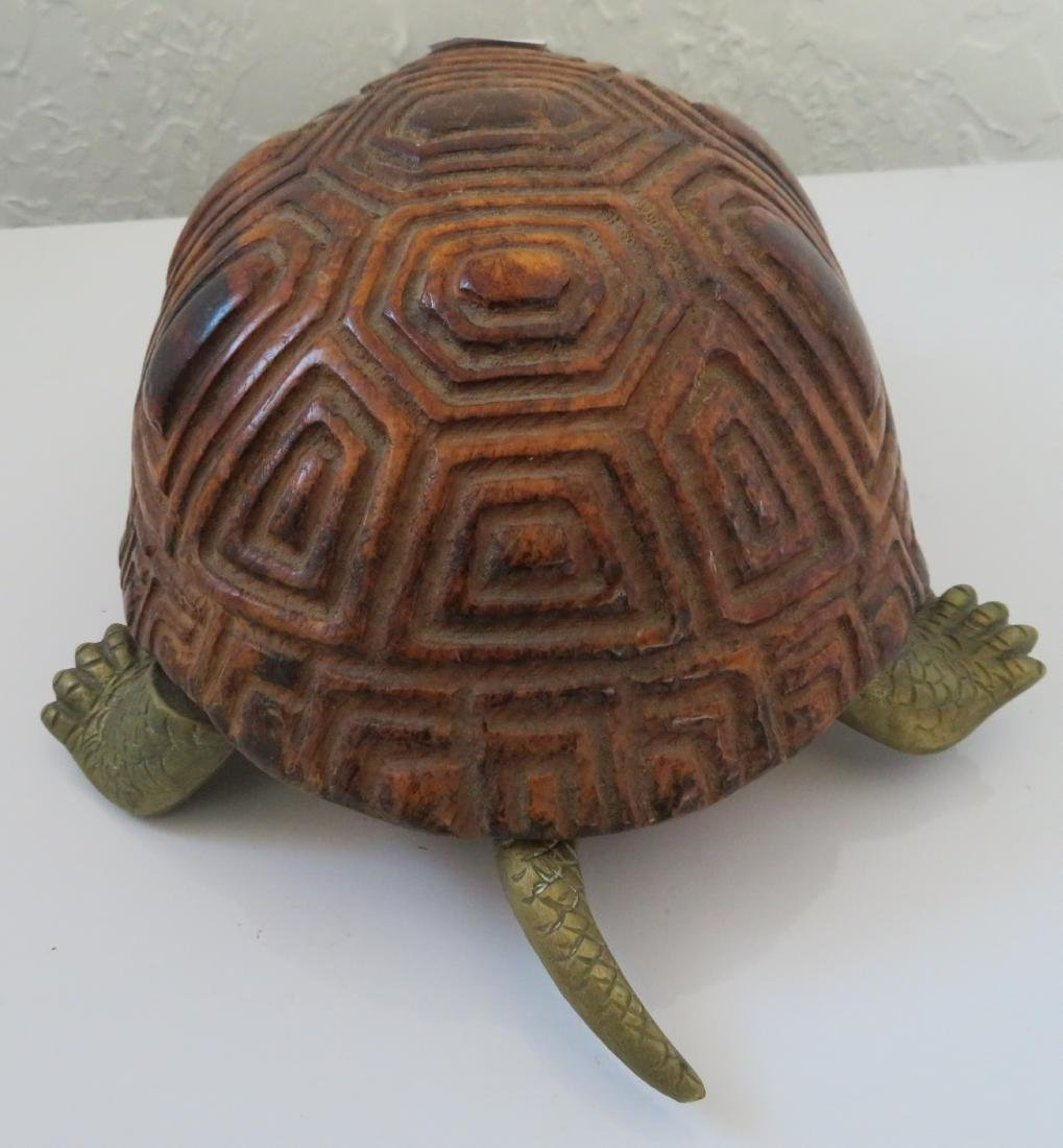 Wood & Brass Turtle - 6