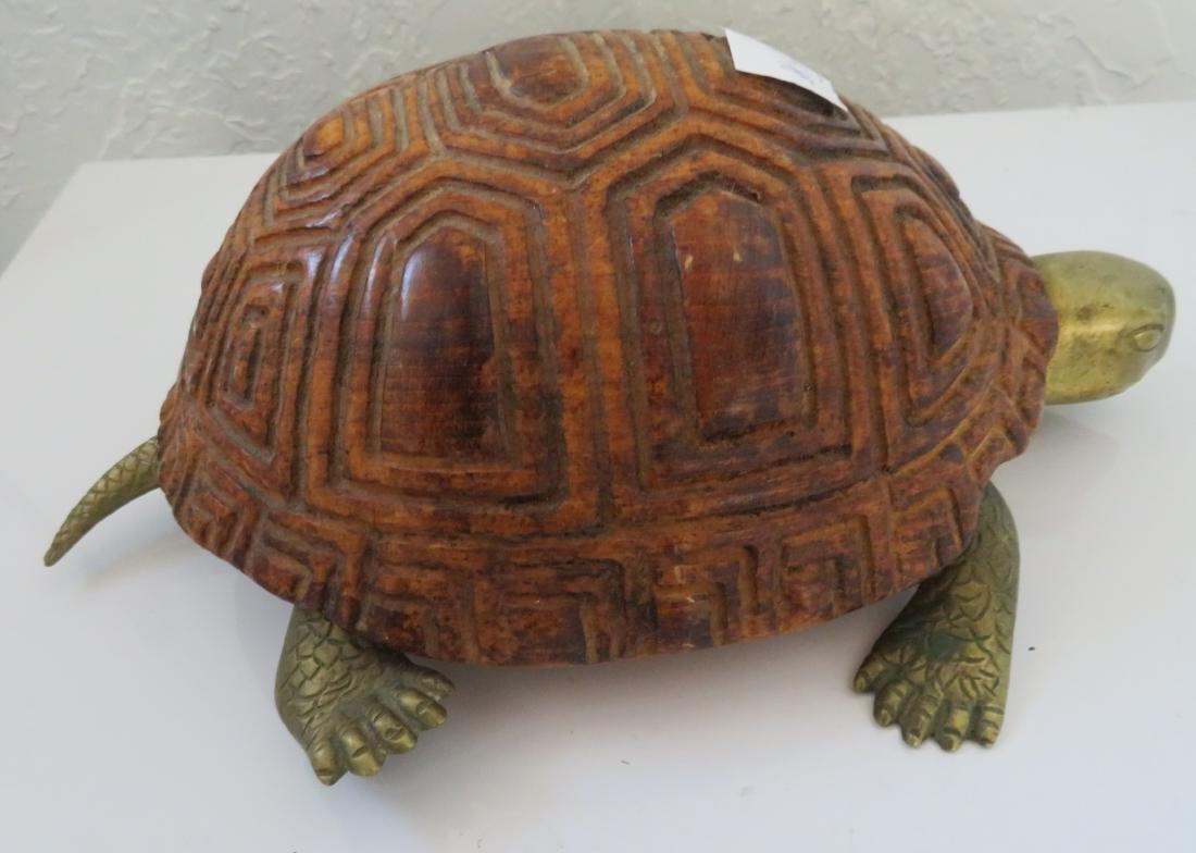 Wood & Brass Turtle - 7