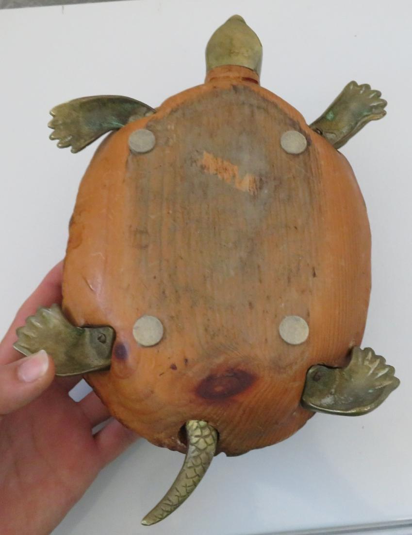 Wood & Brass Turtle - 9