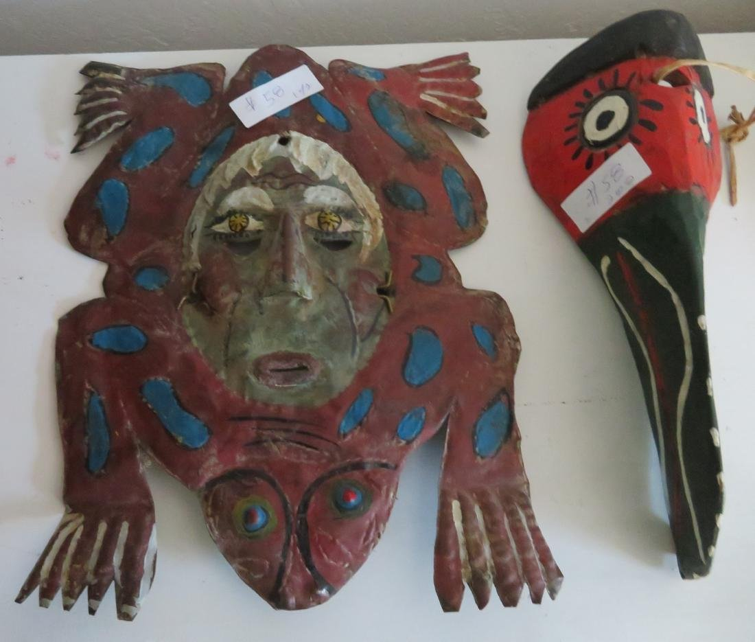 2 Old Mexican Masks - 2