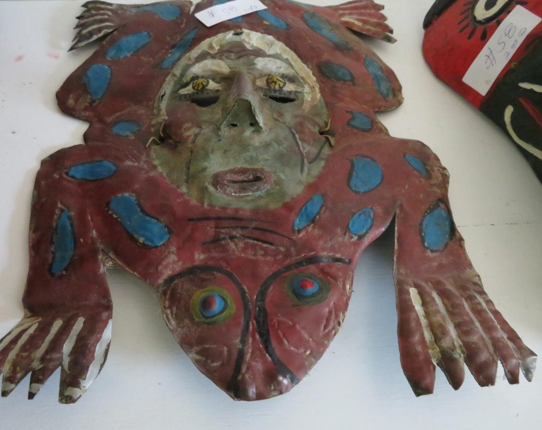 2 Old Mexican Masks - 3
