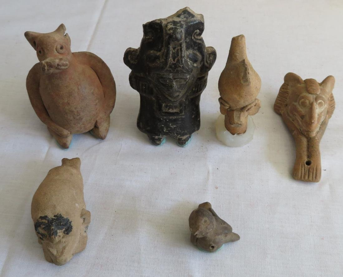 Pre-Columbian Clay Whistle Collection