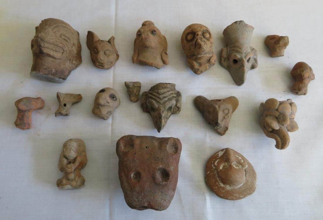 Pre-Columbian Ceramic Animal Heads