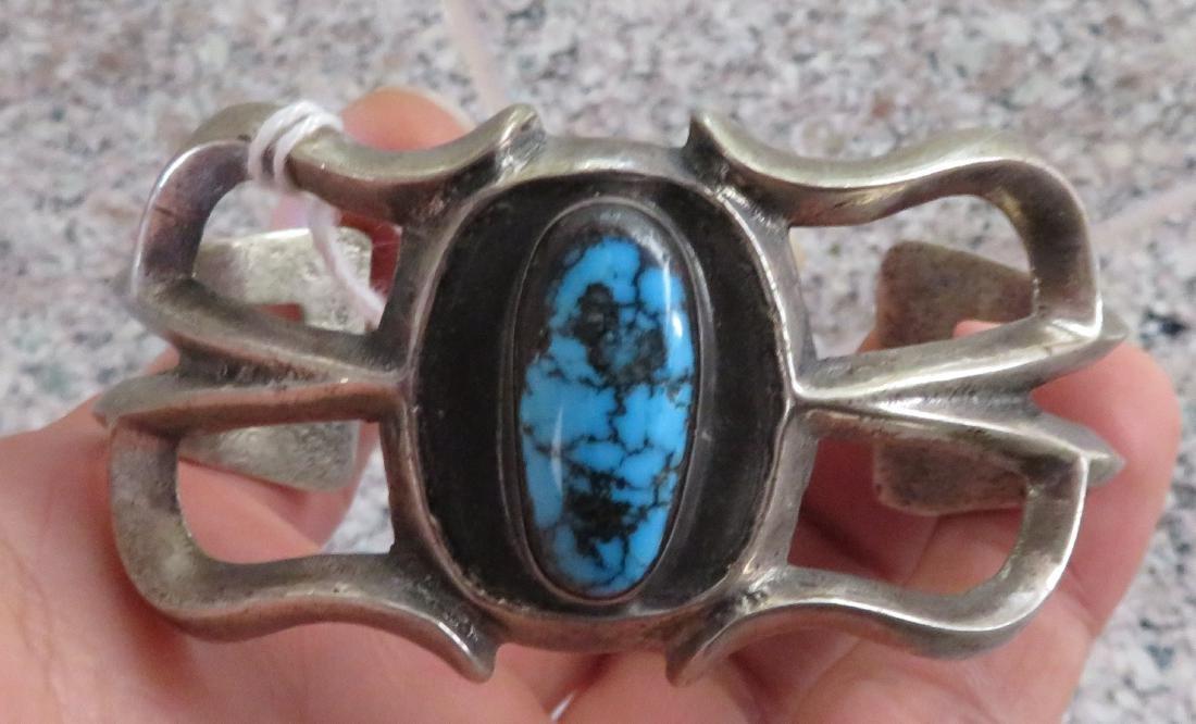 Sandcast Silver Bracelet - 10