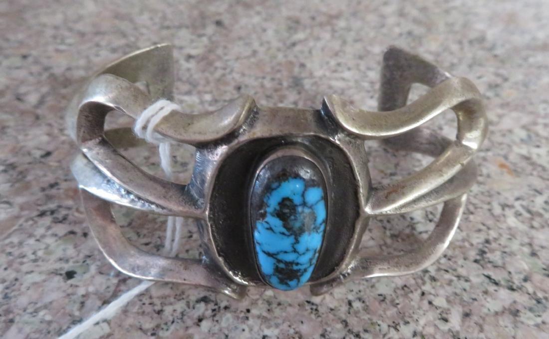 Sandcast Silver Bracelet - 2