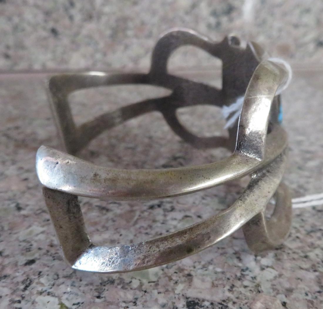 Sandcast Silver Bracelet - 4