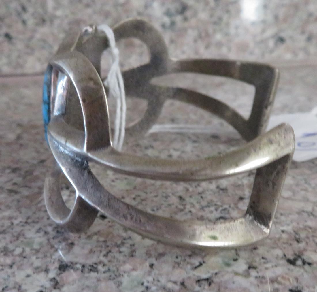 Sandcast Silver Bracelet - 6