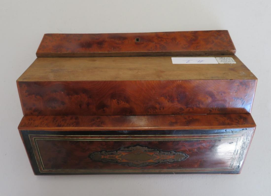 Burl Wood Glove Box - 10