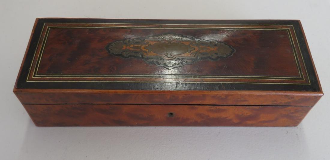 Burl Wood Glove Box