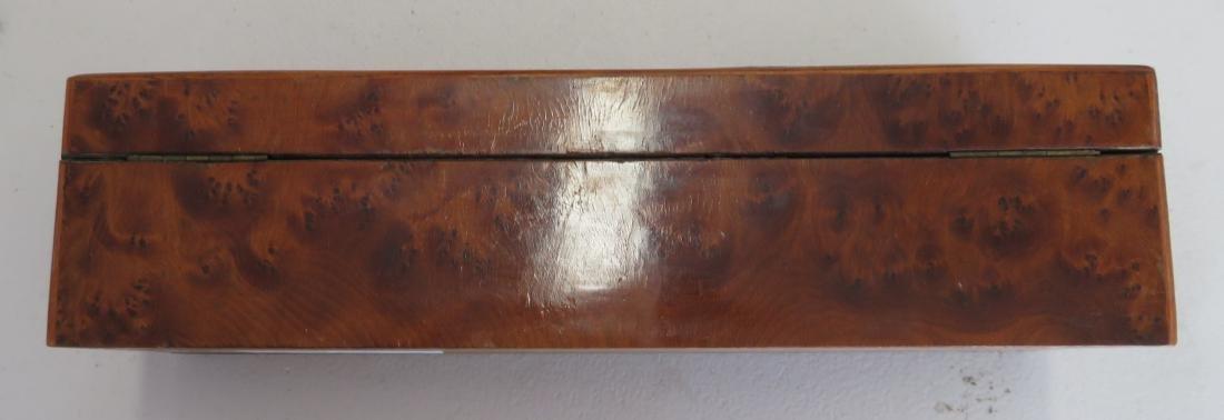 Burl Wood Glove Box - 6