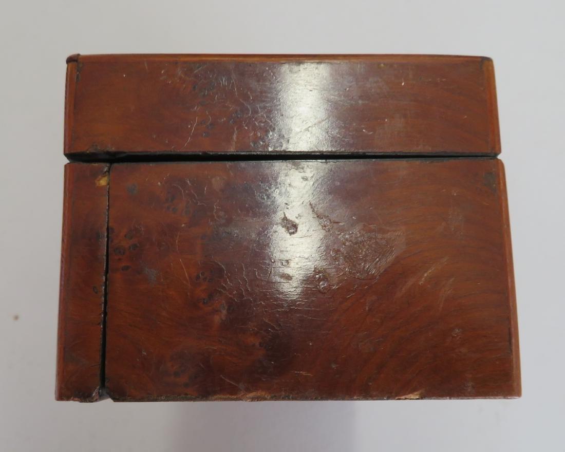 Burl Wood Glove Box - 7