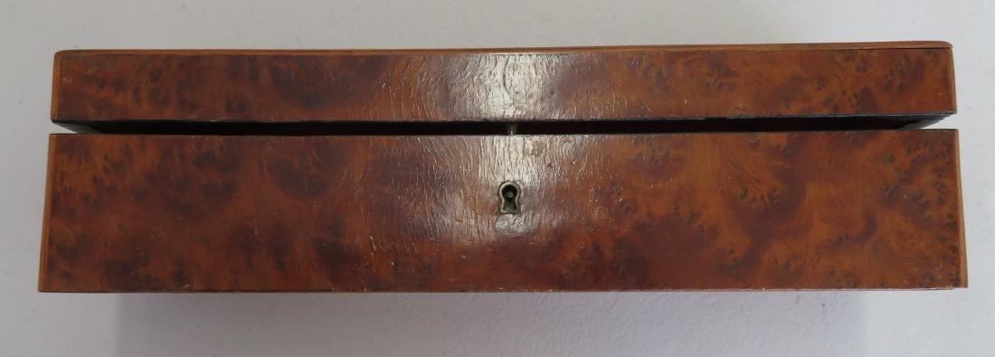 Burl Wood Glove Box - 8