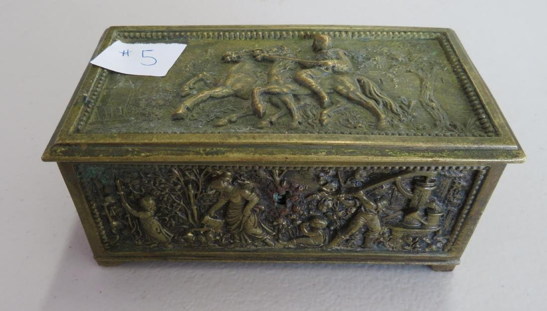 French Brass Box