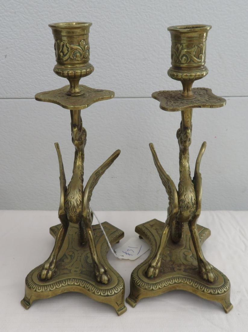 Bronze Gargoyle Candle Holders - 2