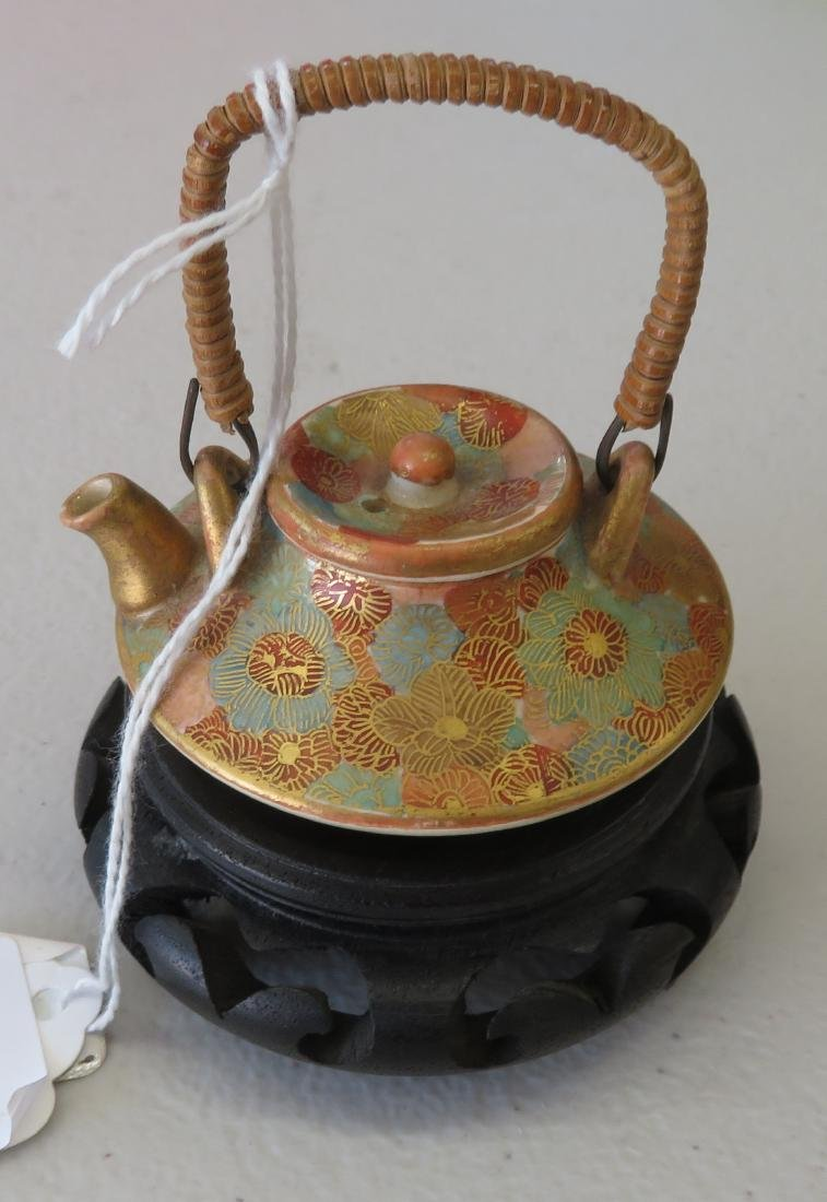Japanese Mini Tea Pot on Stand
