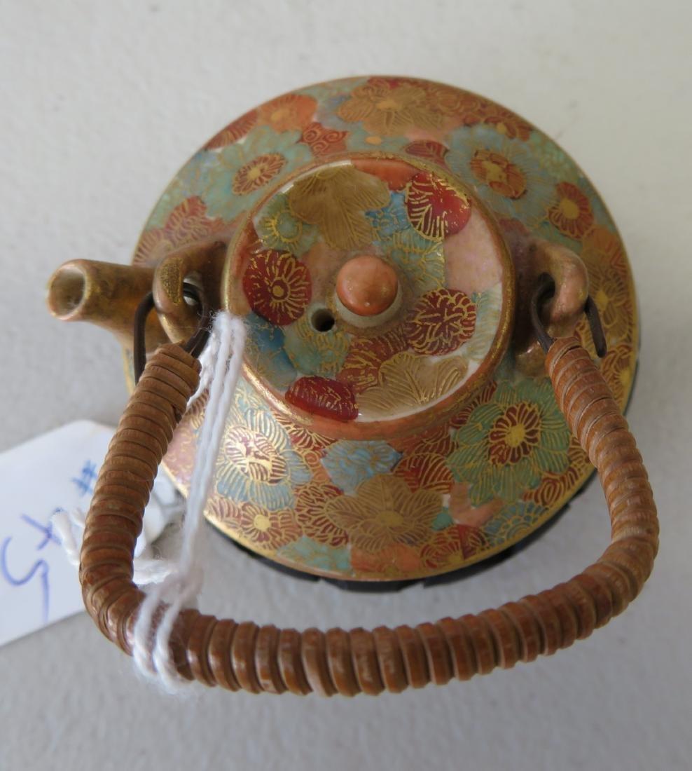 Japanese Mini Tea Pot on Stand - 3