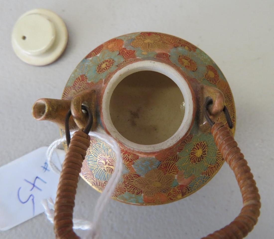 Japanese Mini Tea Pot on Stand - 4