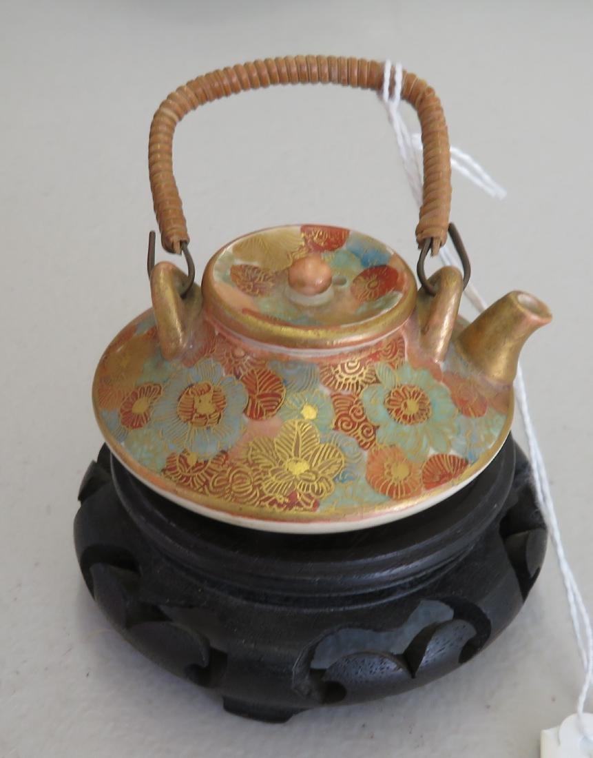 Japanese Mini Tea Pot on Stand - 8