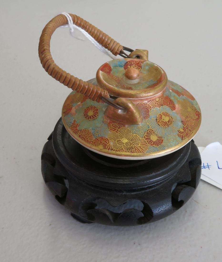 Japanese Mini Tea Pot on Stand - 9