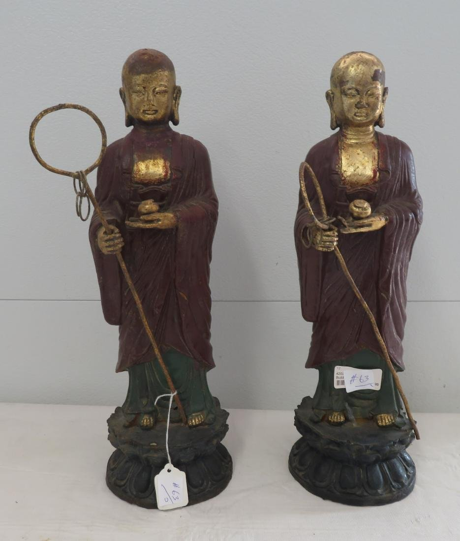 Pair of Japanese Buddhists Monks