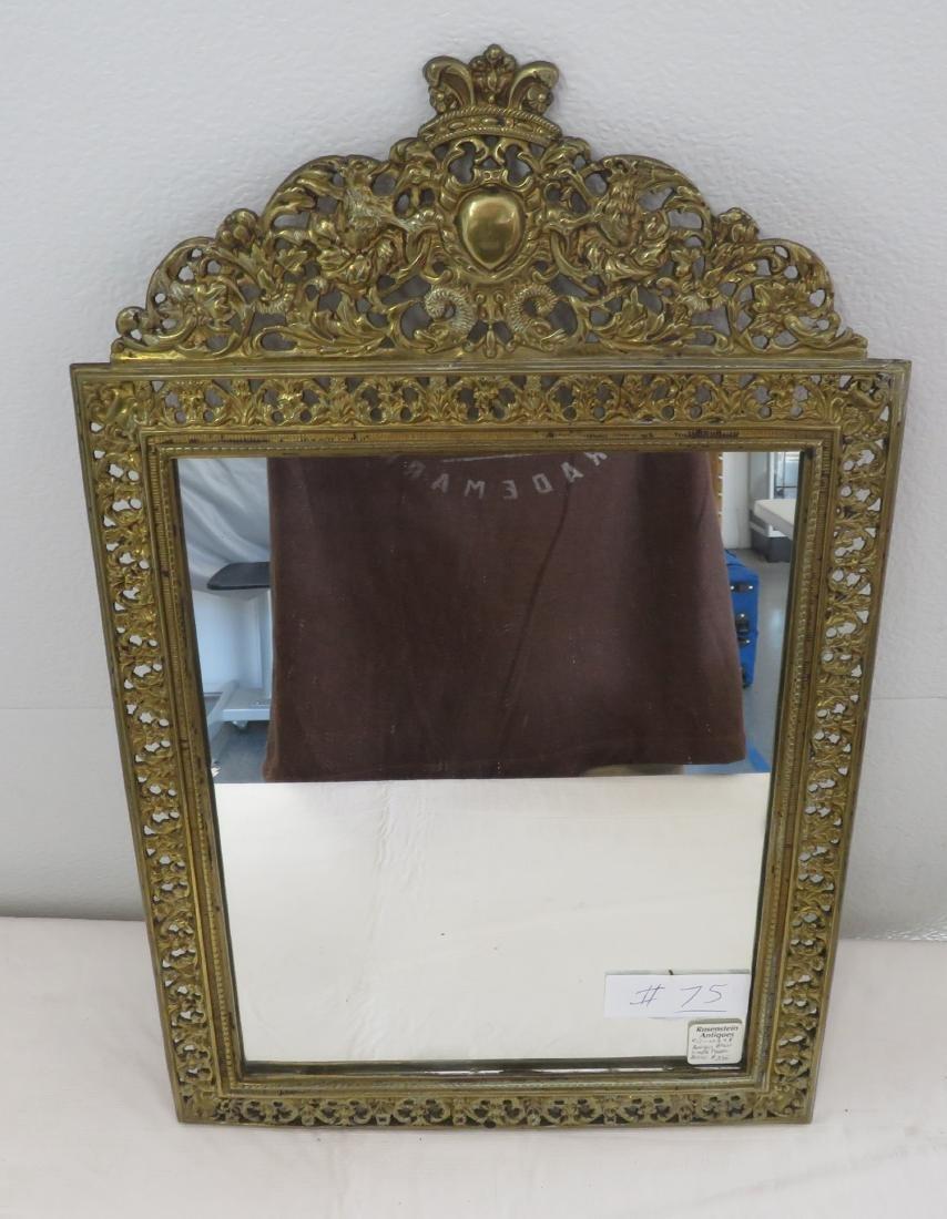 Antique Mirror in Ornate Frame