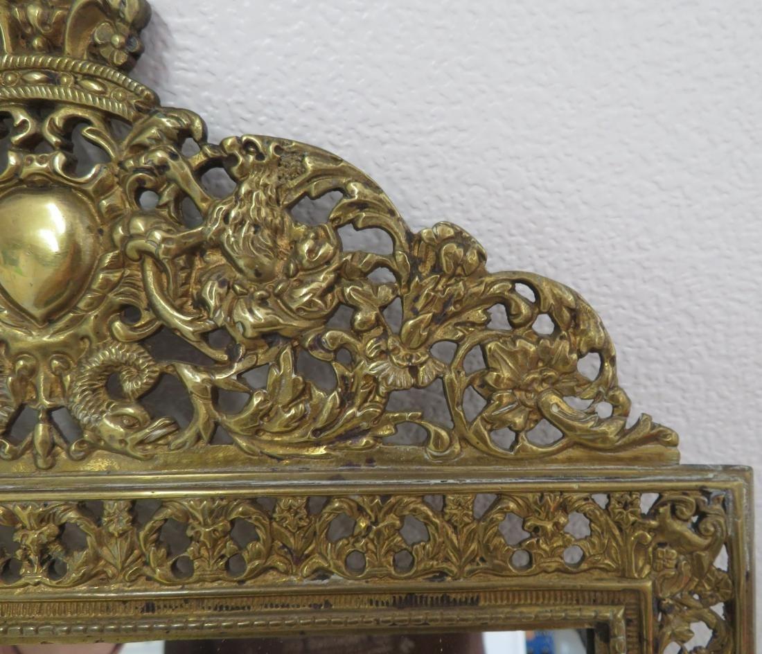 Antique Mirror in Ornate Frame - 3