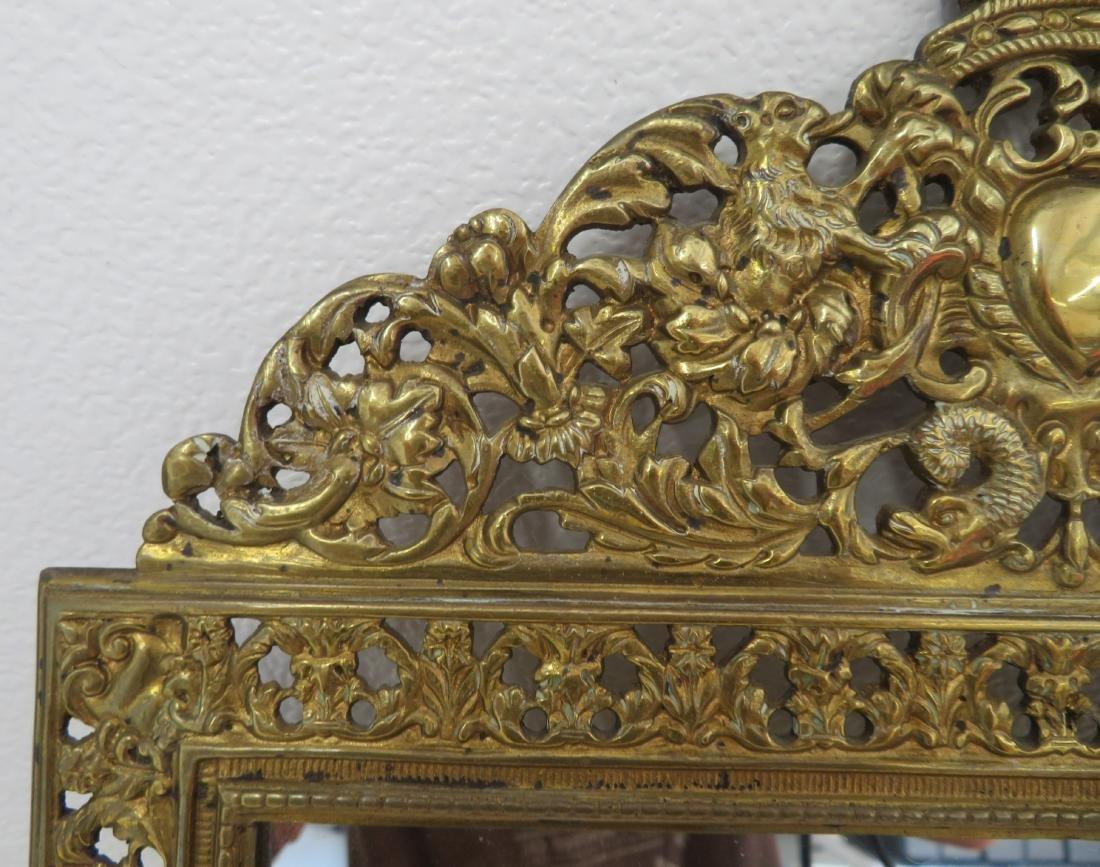 Antique Mirror in Ornate Frame - 4