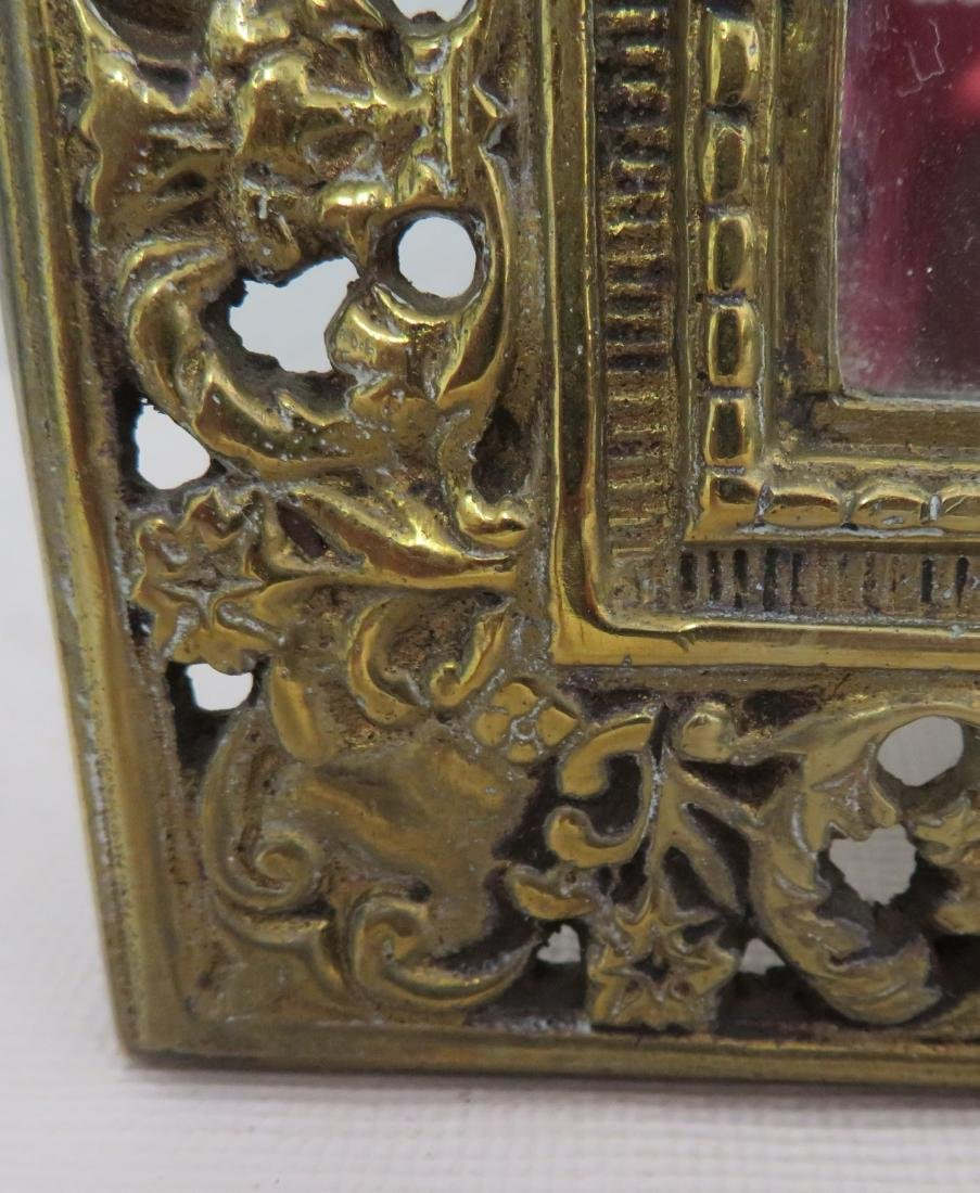 Antique Mirror in Ornate Frame - 5