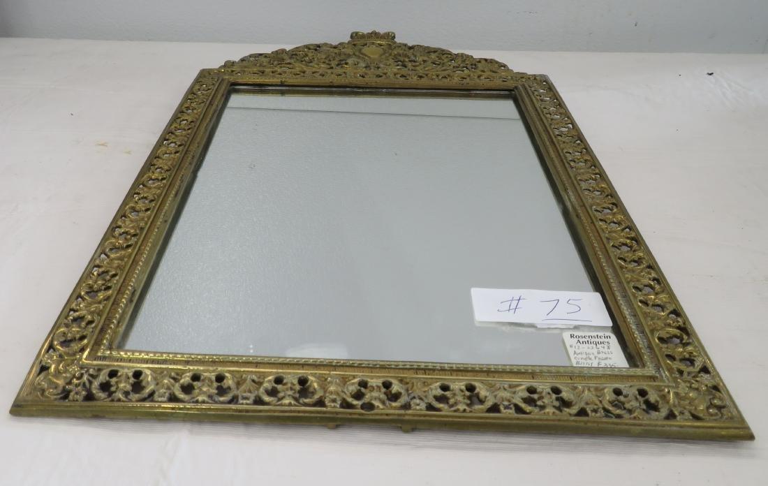 Antique Mirror in Ornate Frame - 6
