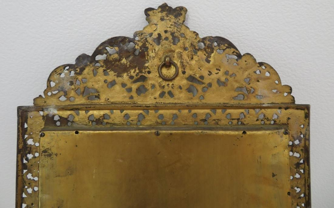 Antique Mirror in Ornate Frame - 8