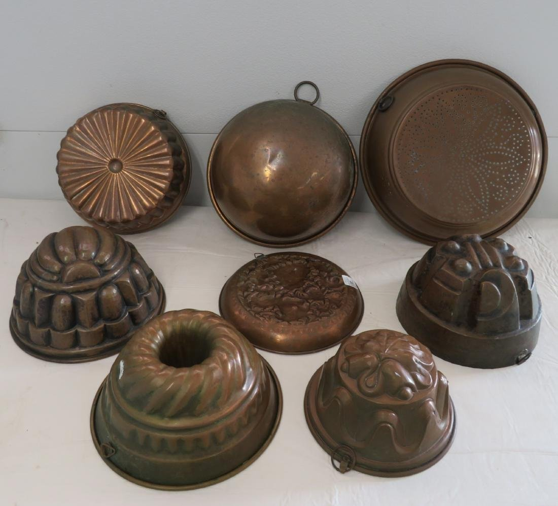 8 Copper Molds & Pots - 10