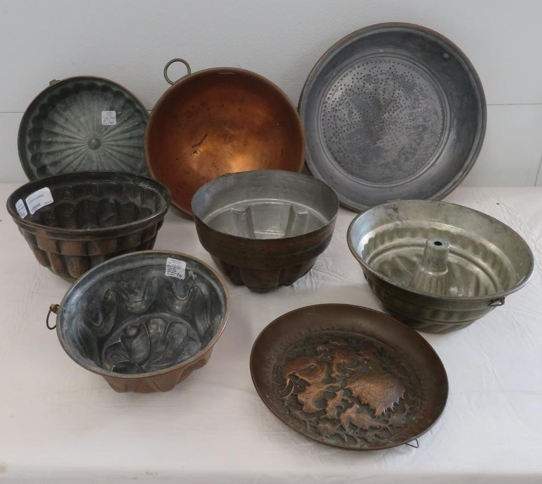 8 Copper Molds & Pots