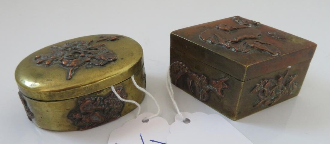 2 Japanese Copper Boxes