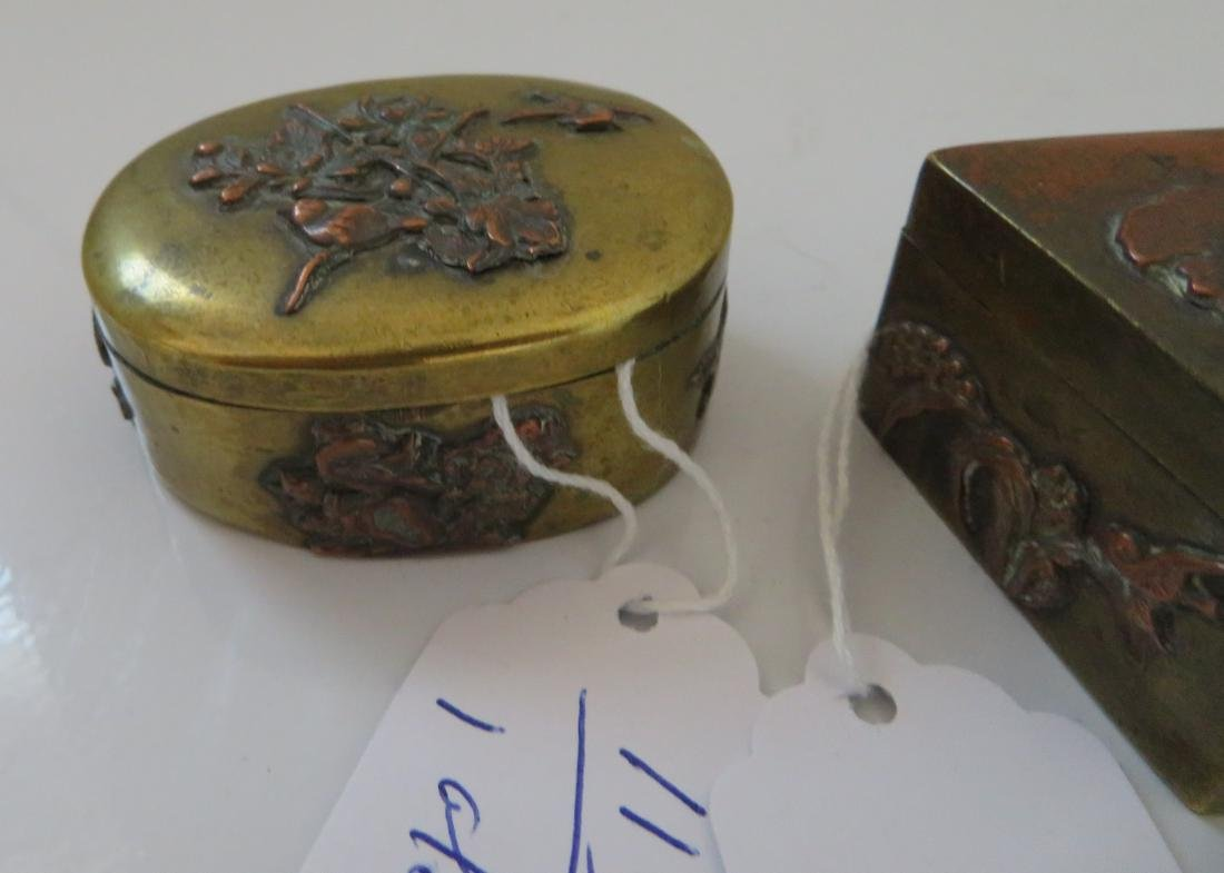 2 Japanese Copper Boxes - 2