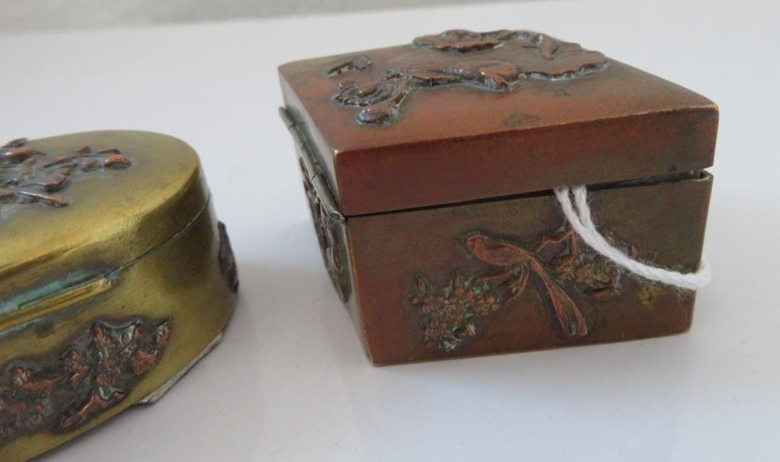 2 Japanese Copper Boxes - 7