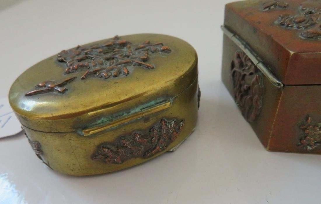 2 Japanese Copper Boxes - 8