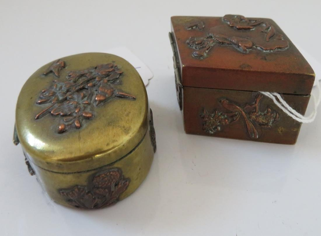 2 Japanese Copper Boxes - 9
