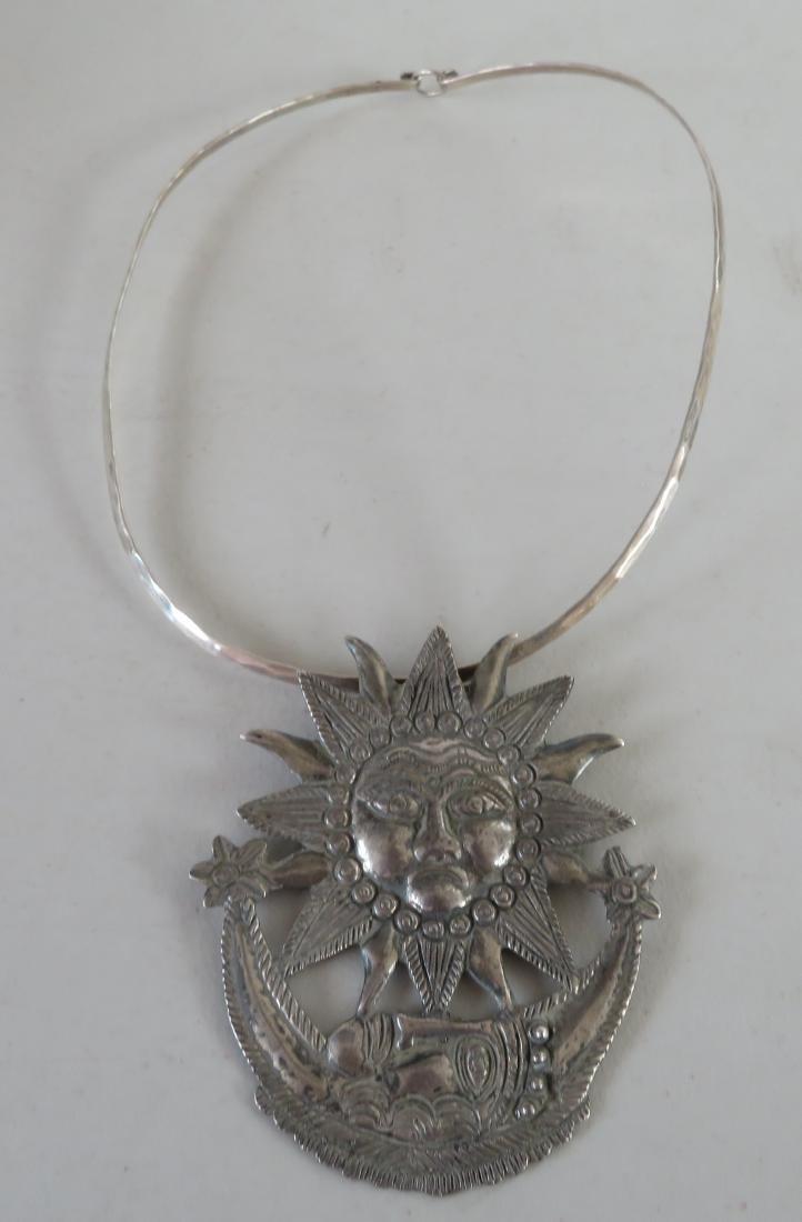 Sterling Sun & Moon Pendant