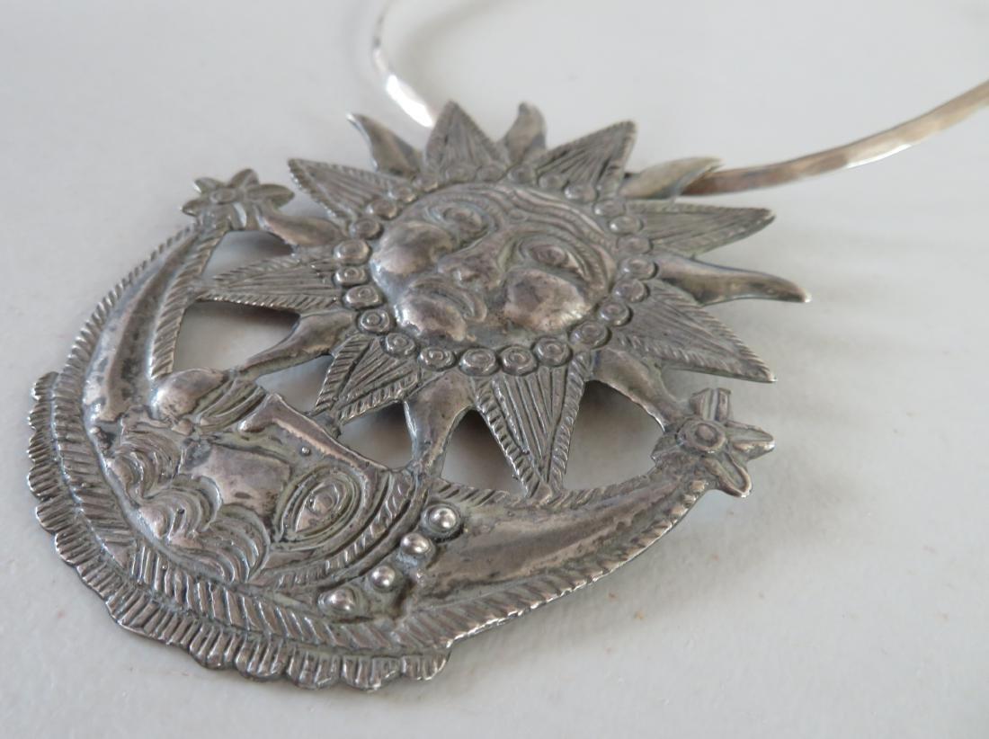 Sterling Sun & Moon Pendant - 3