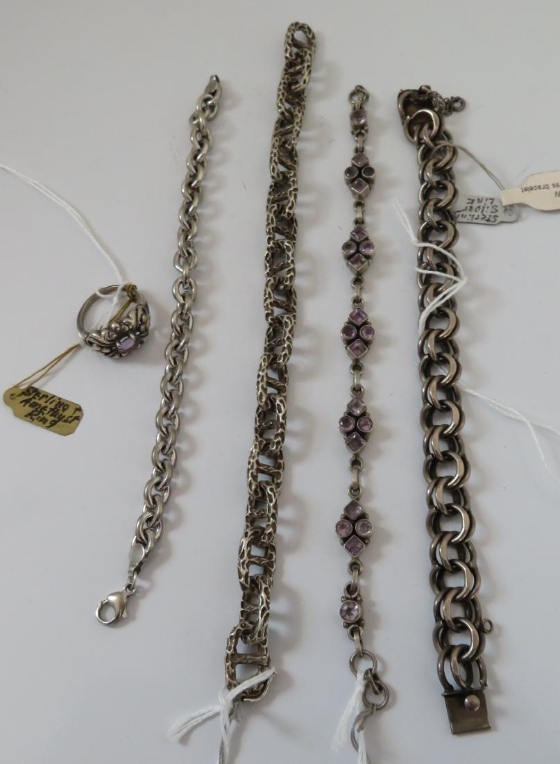 Sterling Silver Bracelets & Ring