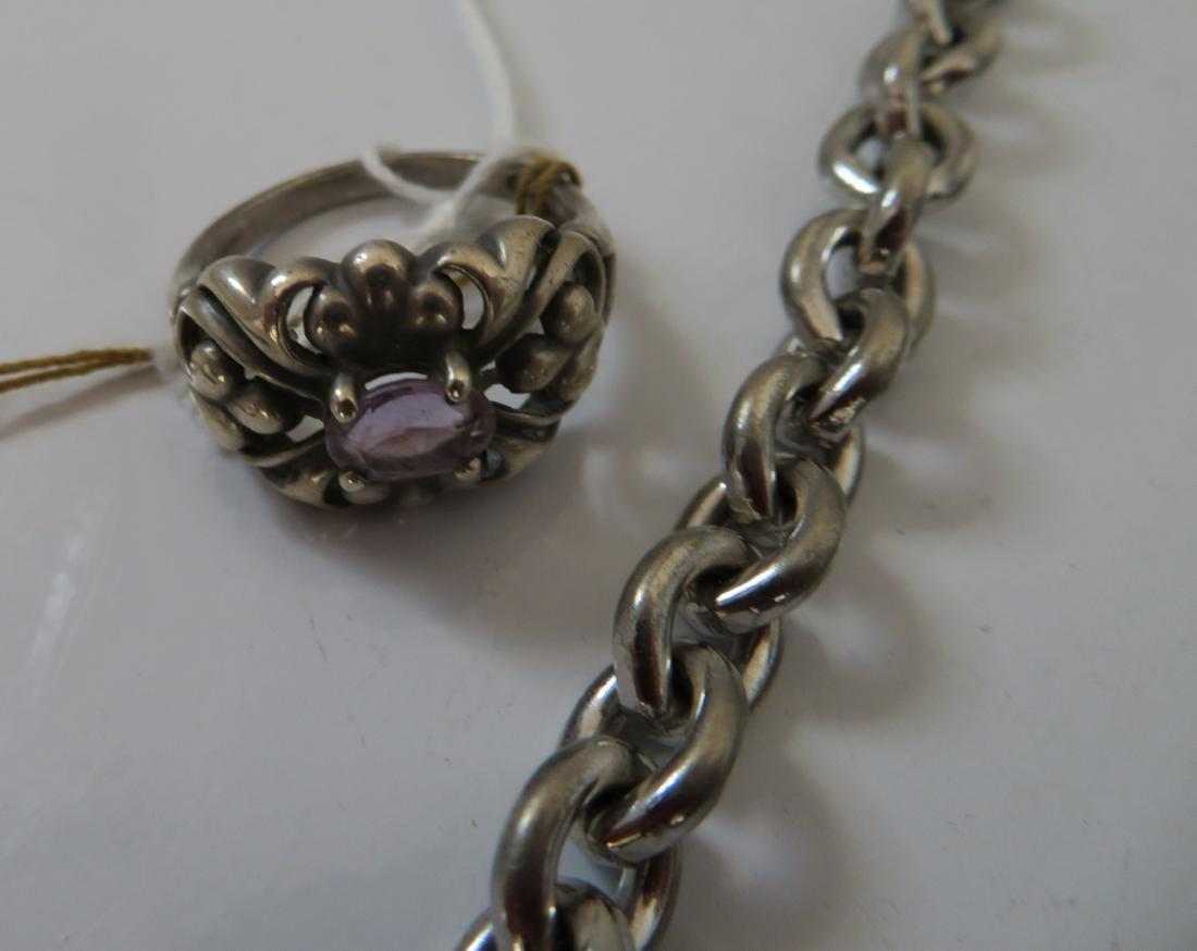 Sterling Silver Bracelets & Ring - 2