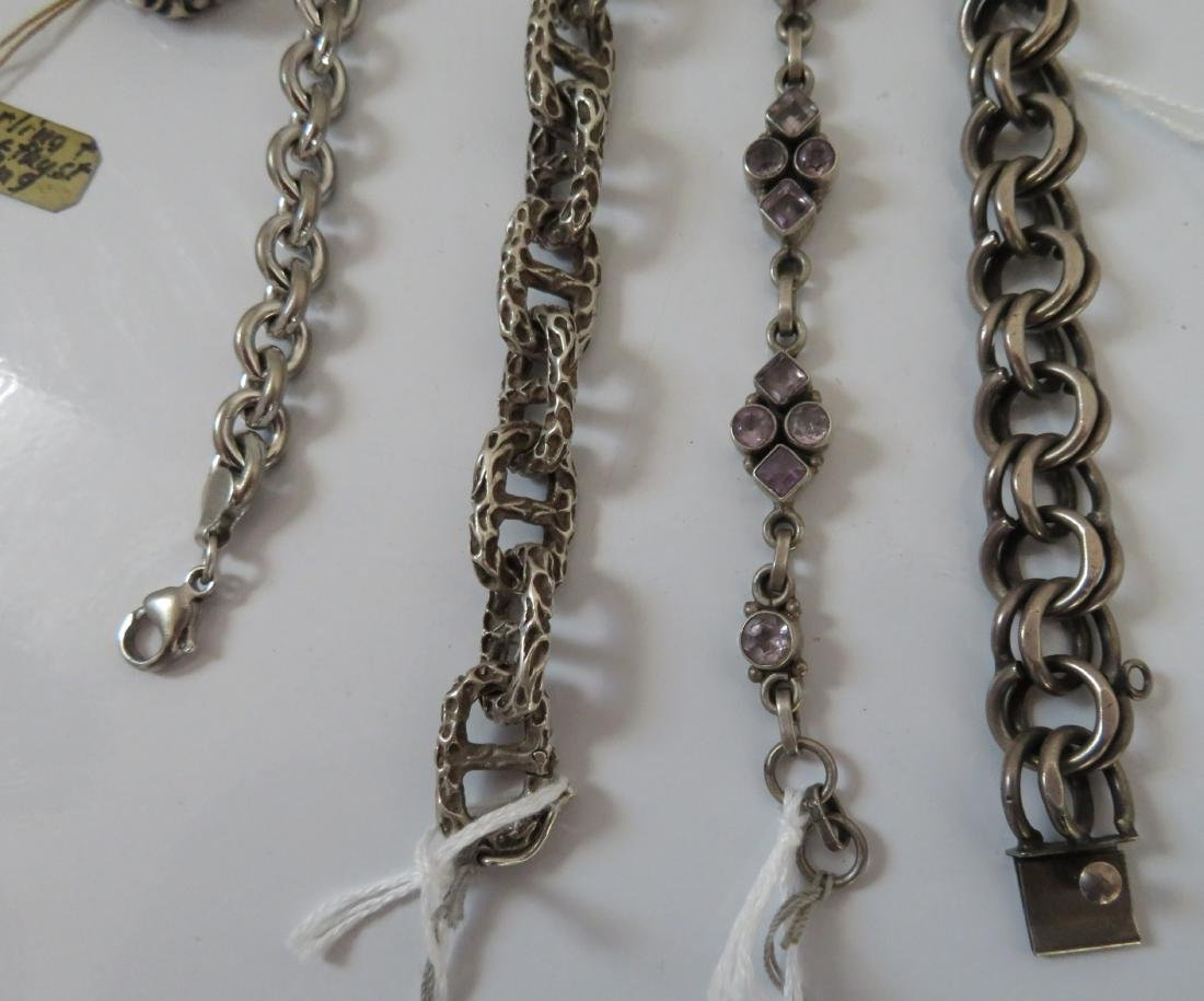 Sterling Silver Bracelets & Ring - 3