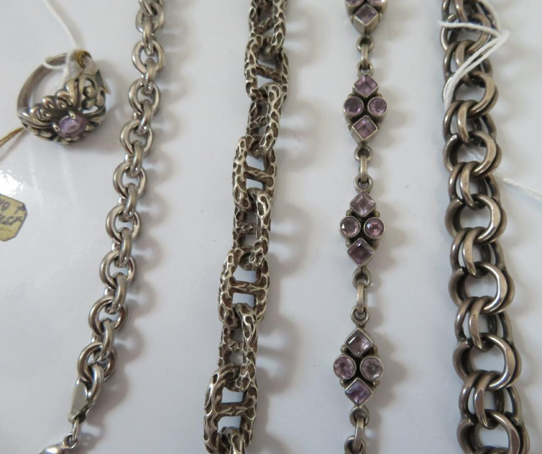 Sterling Silver Bracelets & Ring - 4