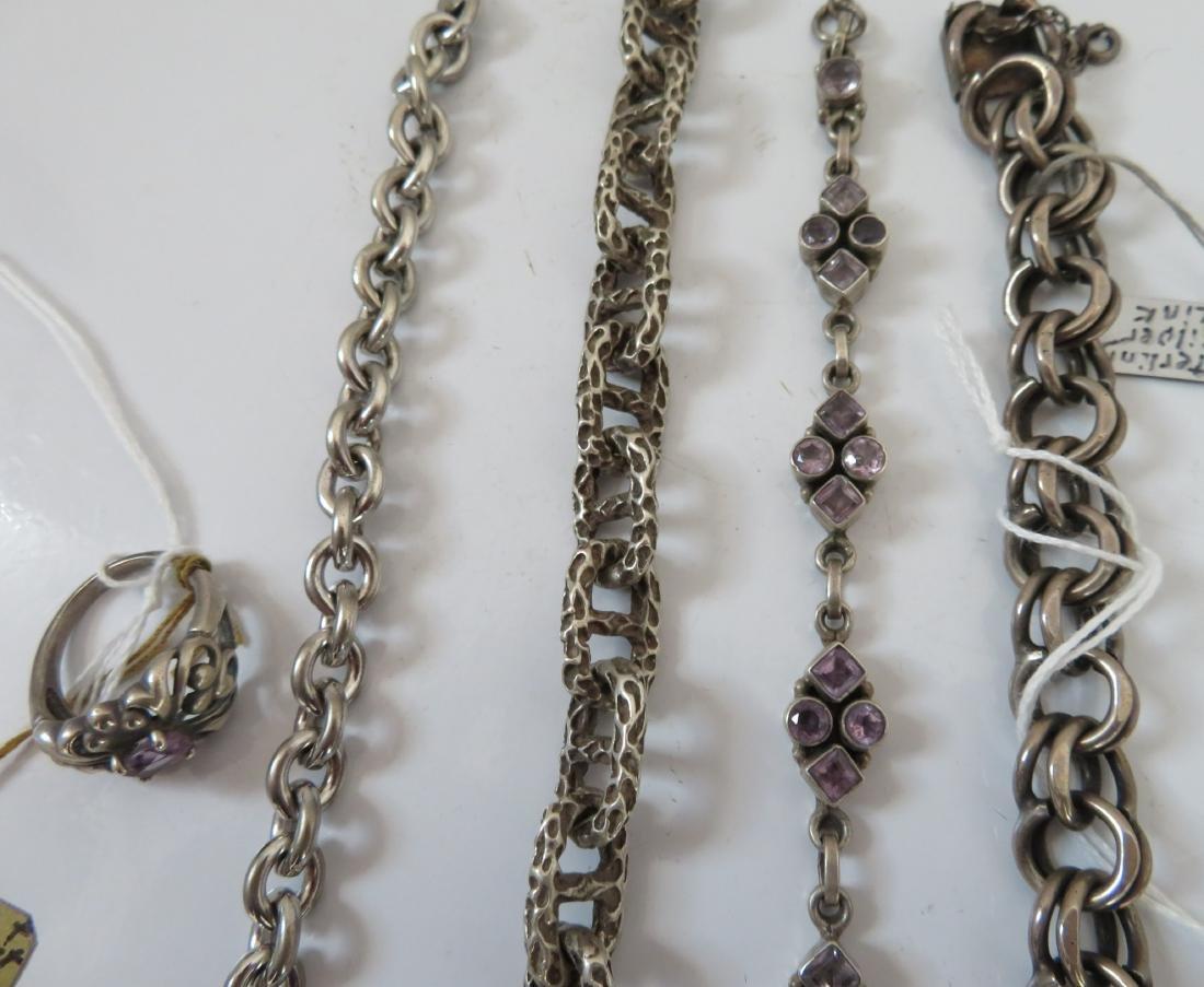 Sterling Silver Bracelets & Ring - 5