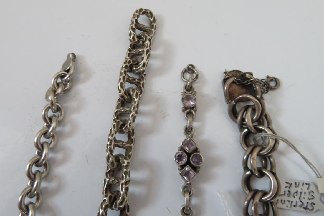 Sterling Silver Bracelets & Ring - 6