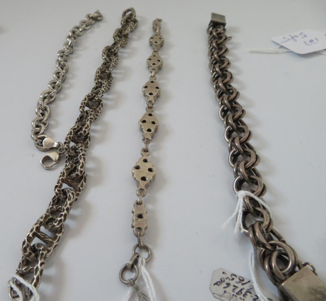 Sterling Silver Bracelets & Ring - 8