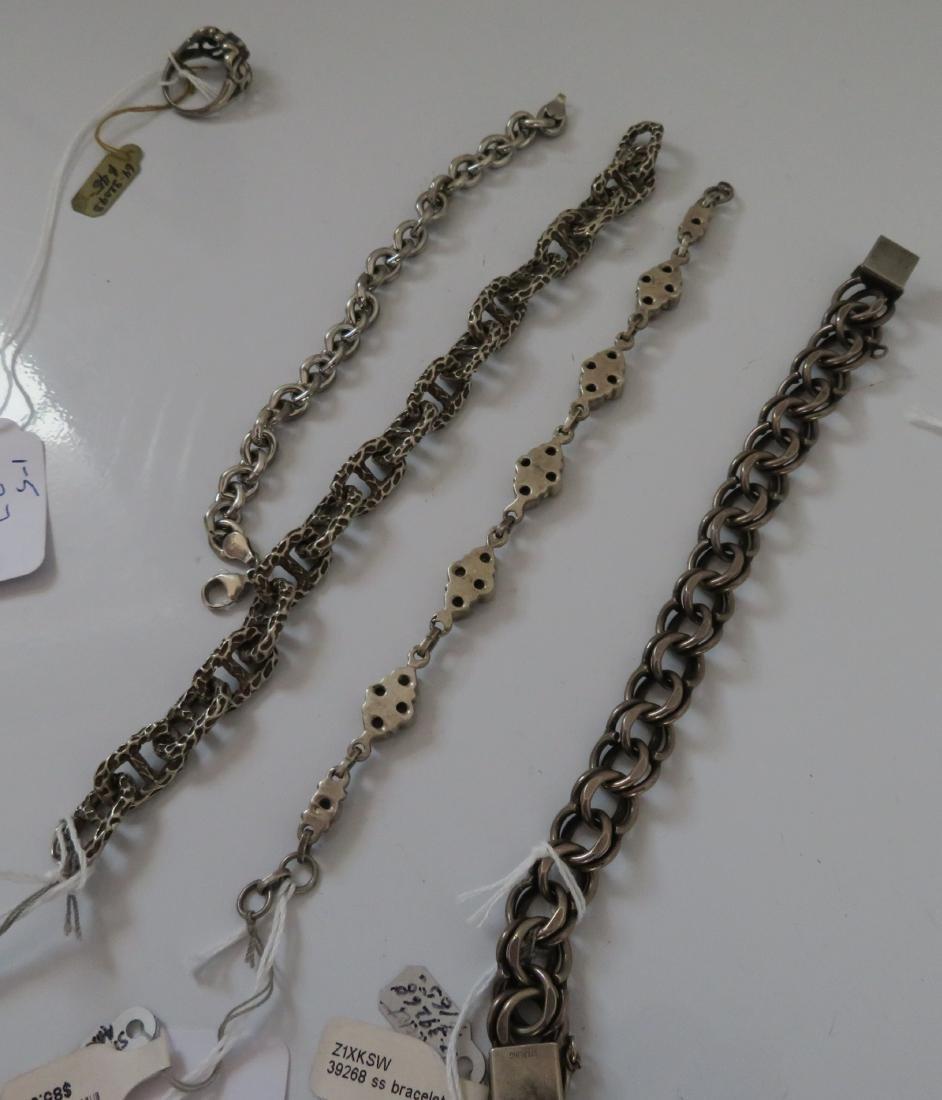 Sterling Silver Bracelets & Ring - 9