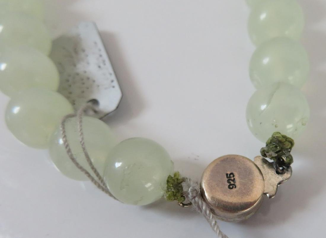 Chinese Jade Necklace w/Carved Flowers - 7