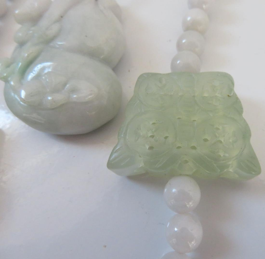 White Chinese Jade Necklace & Pendant - 4
