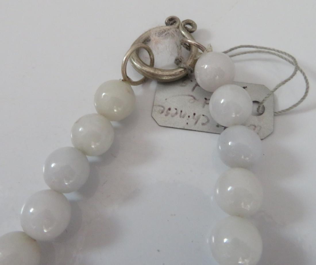 White Chinese Jade Necklace & Pendant - 8